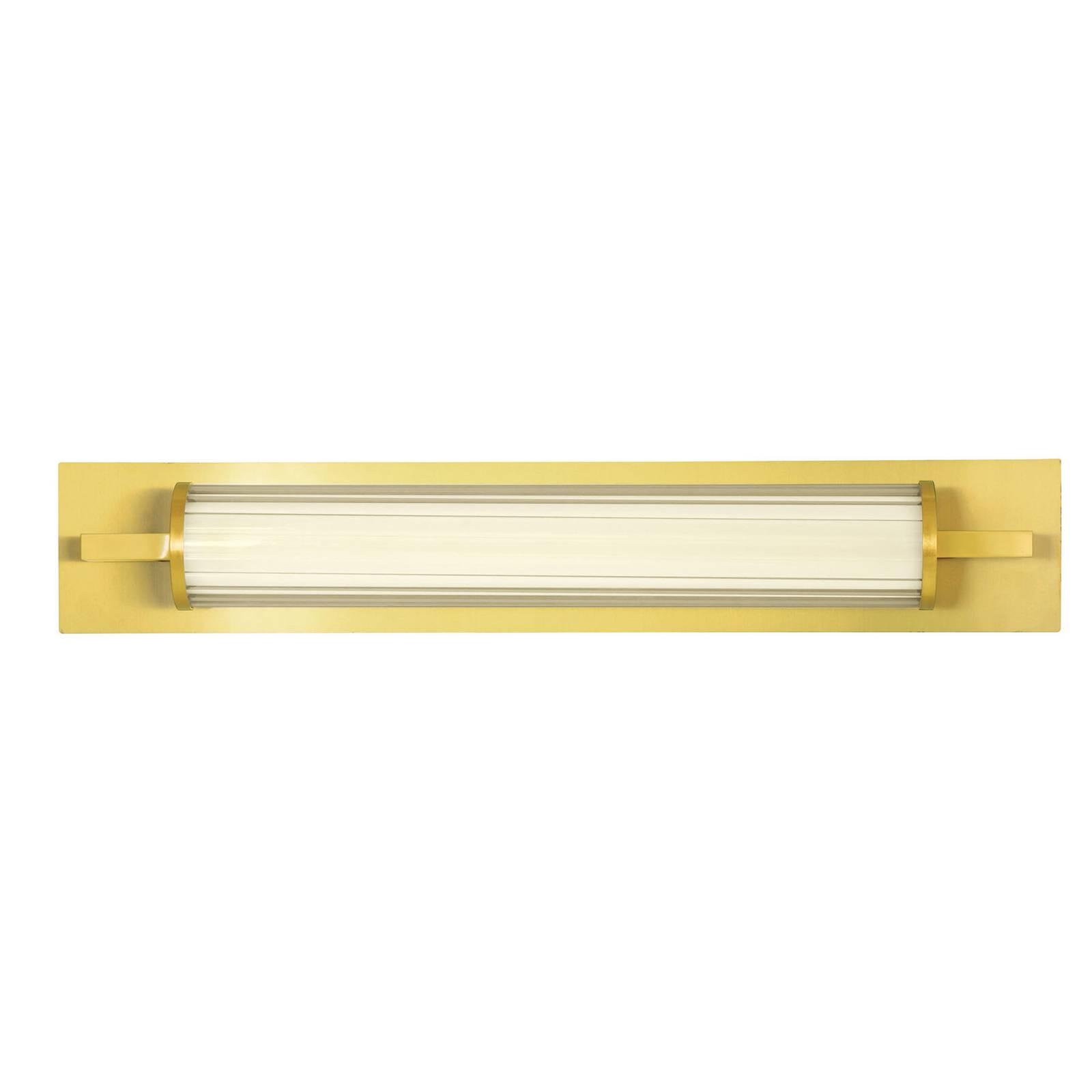 Applique LED Frida, verre, blanche/dorée, en tube