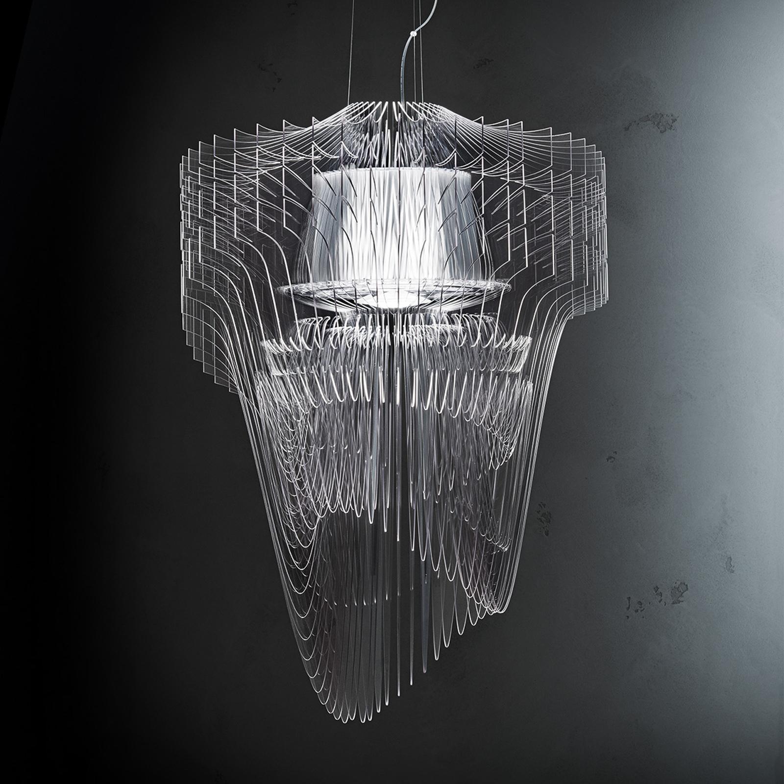 Transparentna designerska lampa wisząca LED ARIA
