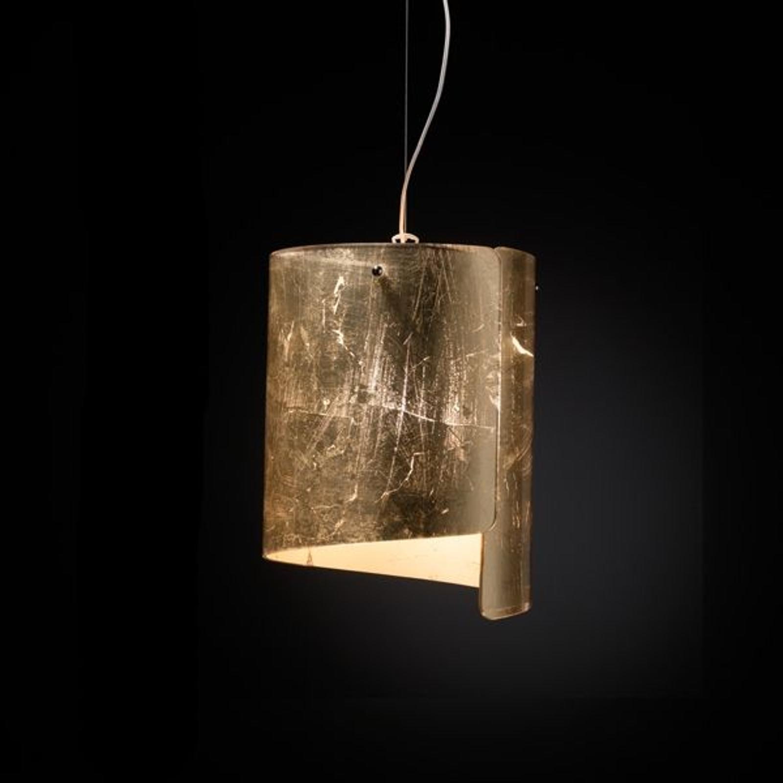 Hängeleuchte Papiro, Ø 26 cm, gold