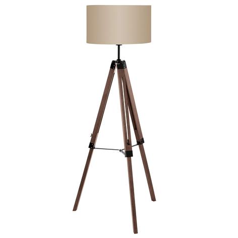 Lampada da terra Lantada con treppiede di legno