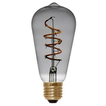 E27 4W 922 LED-rustika Curved Line smokey grå