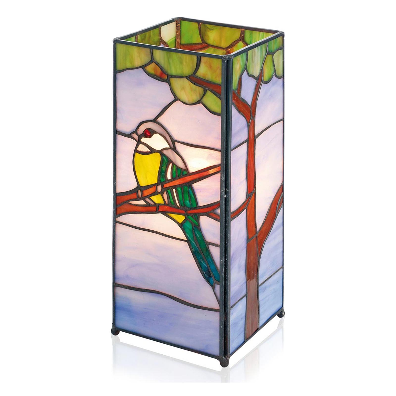 Betoverende tafellamp Serafina in Tiffany-stijl
