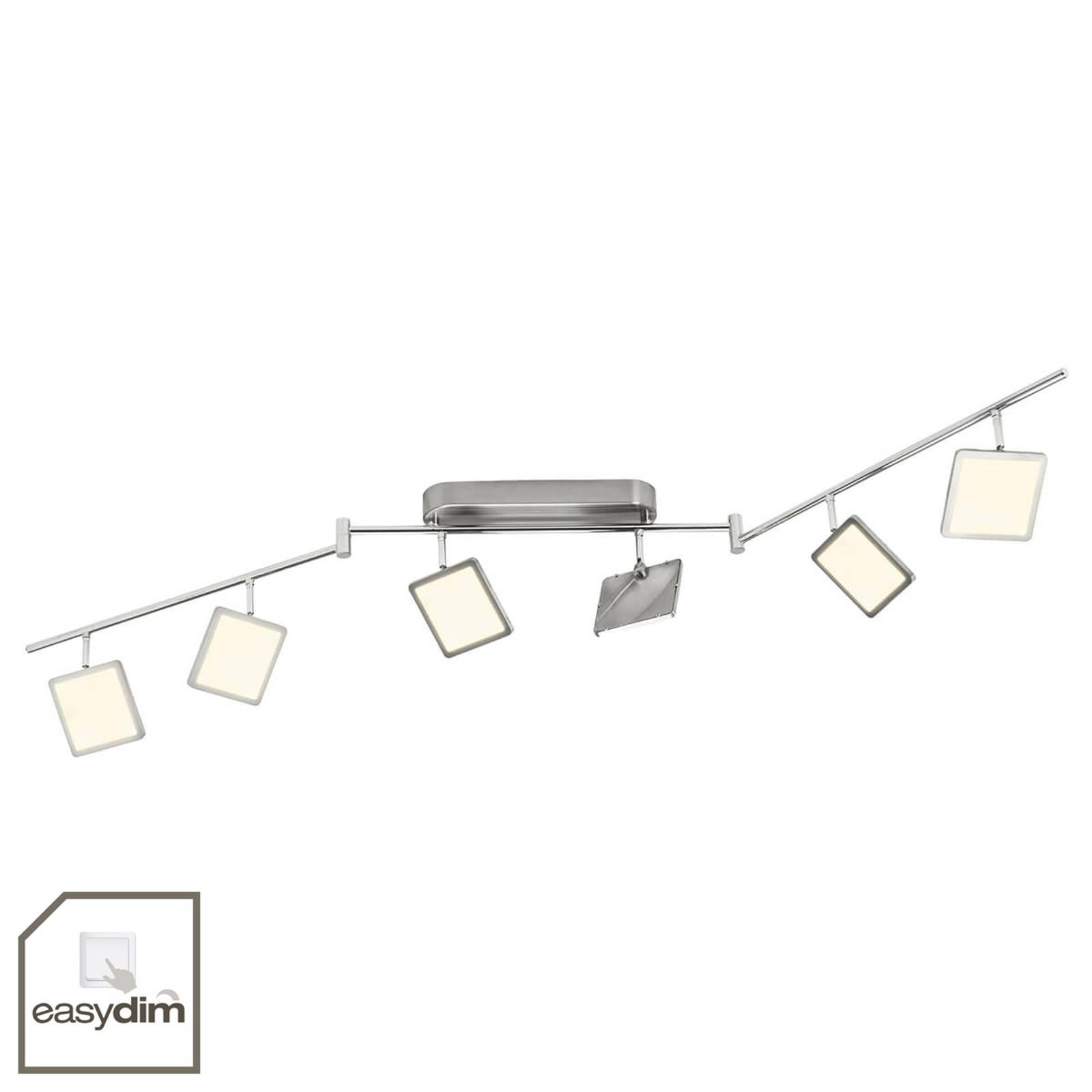 6-lamps easydim plafondlamp Uranus met LED