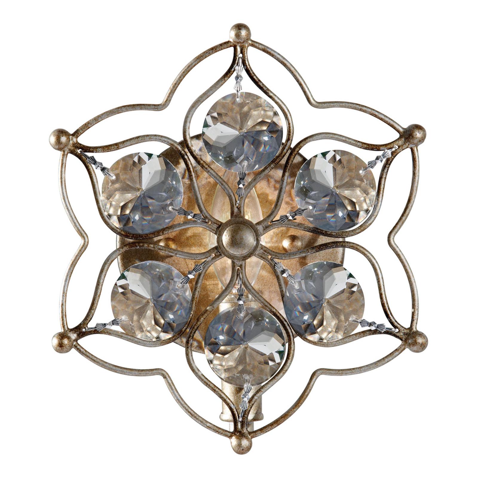Dekoracyjna kryształowa lampa ścienna Leila