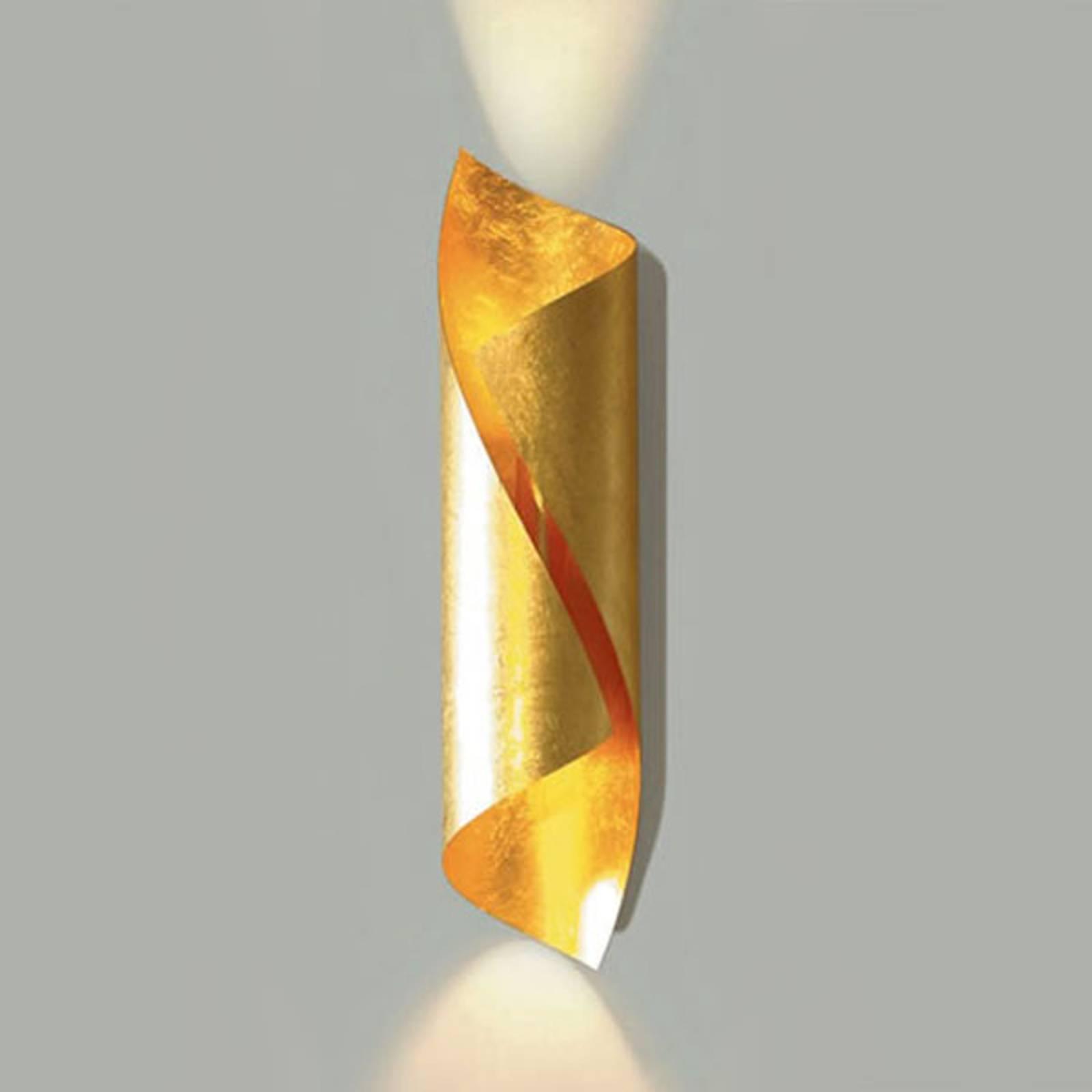Knikerboker Hué LED wandlamp hoogte 54 cm bladgoud