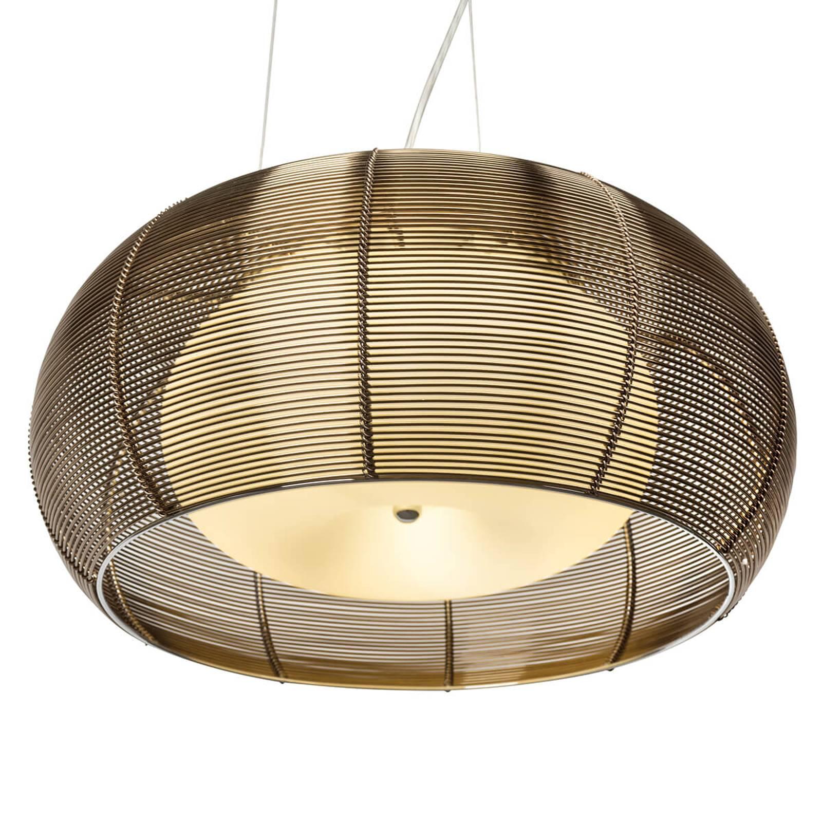 Duża lampa wisząca Relax brąz chrom