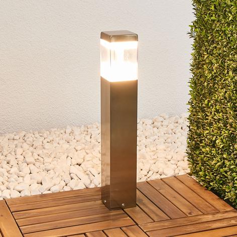 Sokkellamp Baily met LED's, roestvrij staal