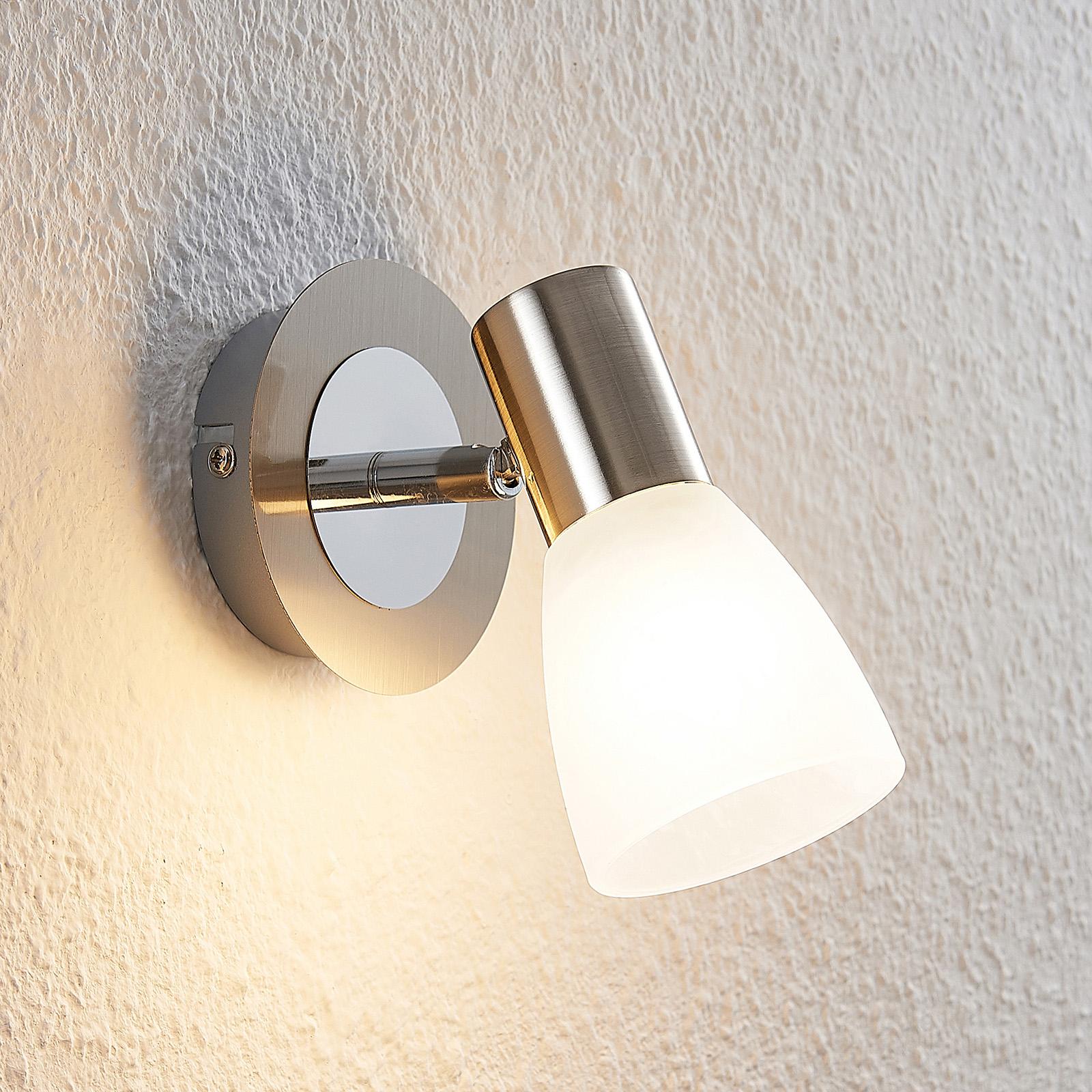 ELC Kamiran LED spot, skleněné stínidlo, jednožár.