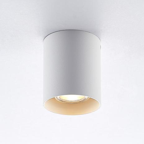 ELC Efey lampa sufitowa, GU10, okrągła, biała