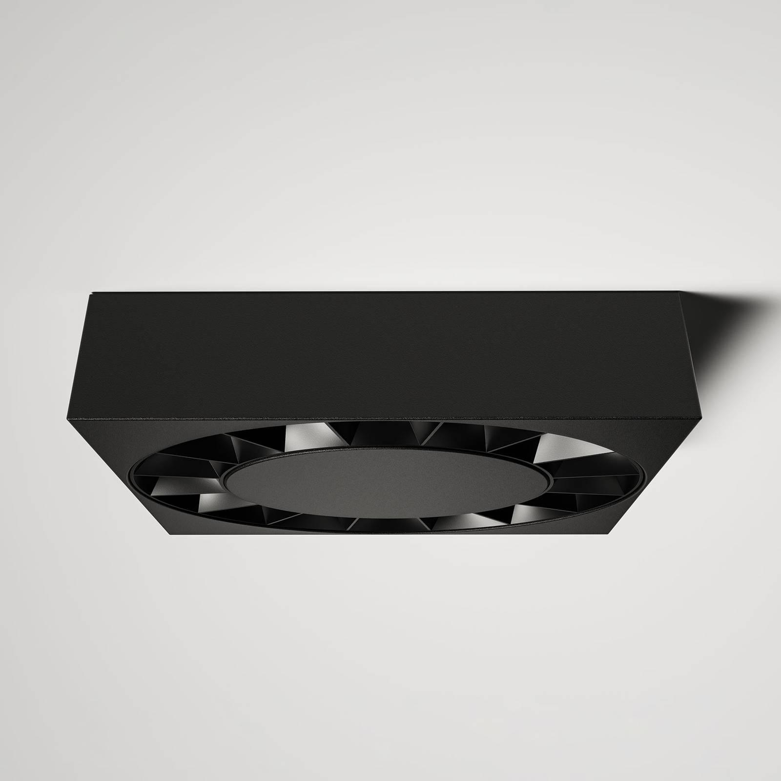 Lucande LED buitenplafondlamp Kelissa zwart hoekig