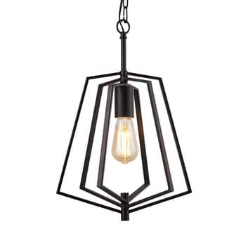 Lampada sospensione Slinky, 1 luce, nero satinato