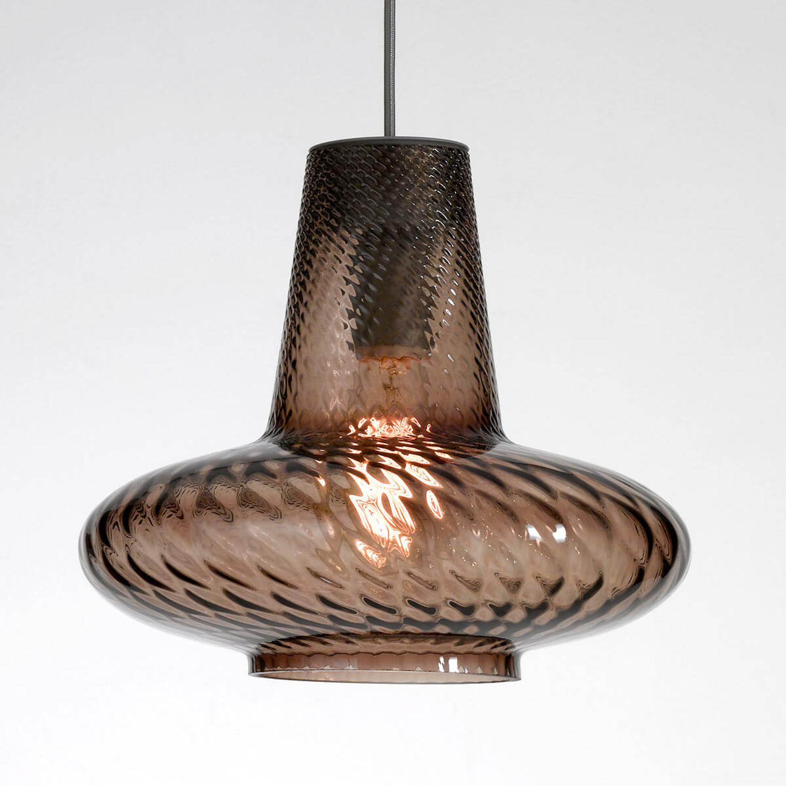Szklana lampa wisząca Giulietta, szara