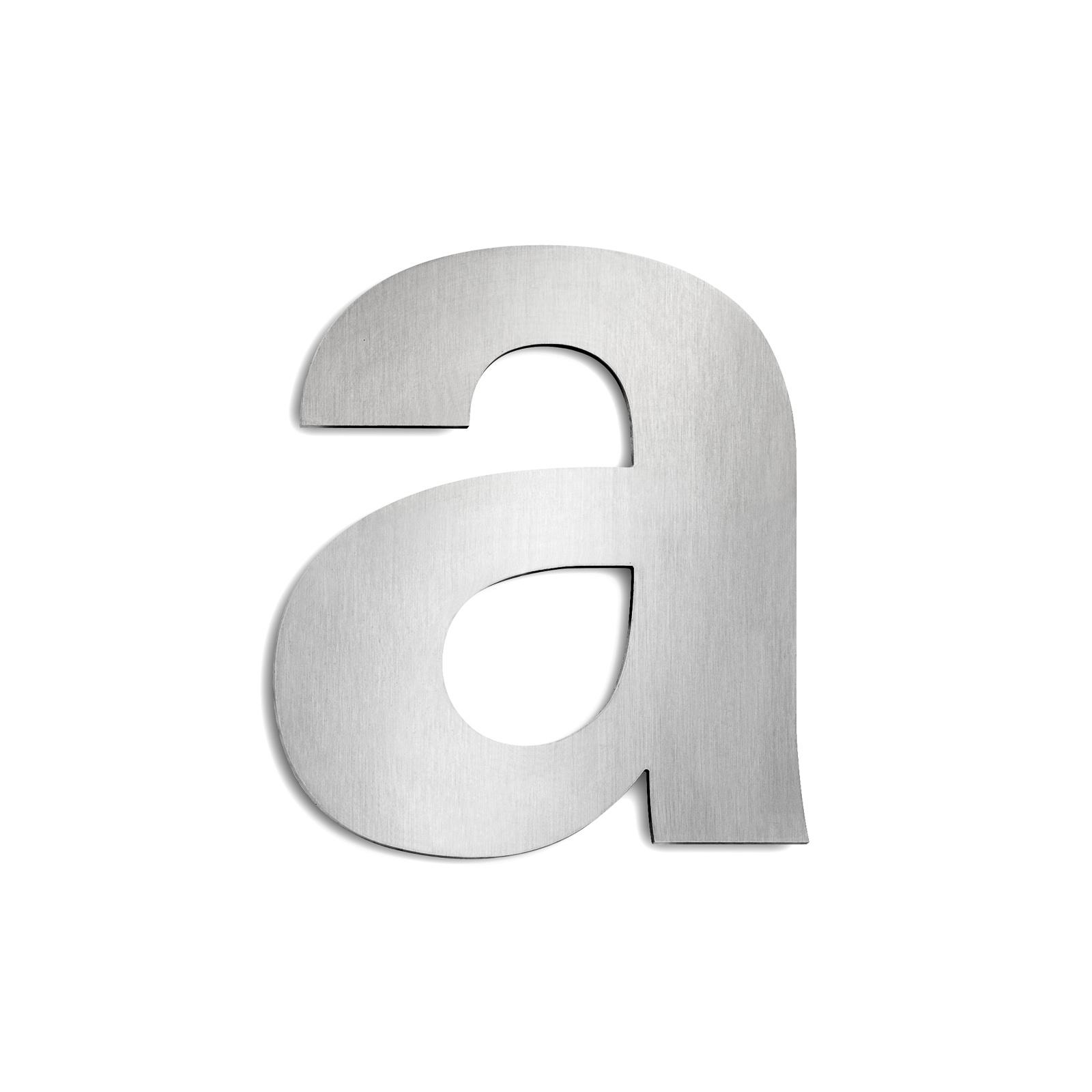 Husnummer i rostfritt stål, stort - Bokstaven A