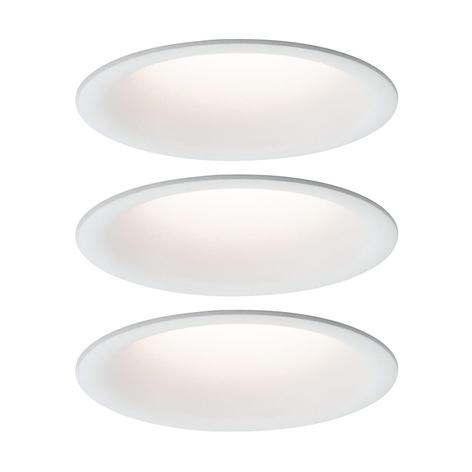 Paulmann LED-Einbaulampe Cymbal 3x6,8W IP44