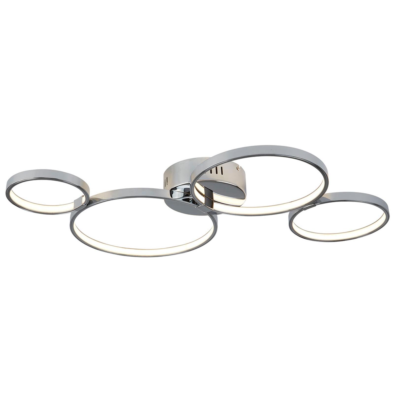 Pierścień lampa sufitowa LED Solexa o chromowana
