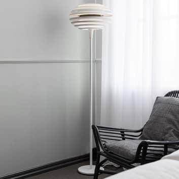 Lampada da terra Ellipse con dimmer, bianco/cromo