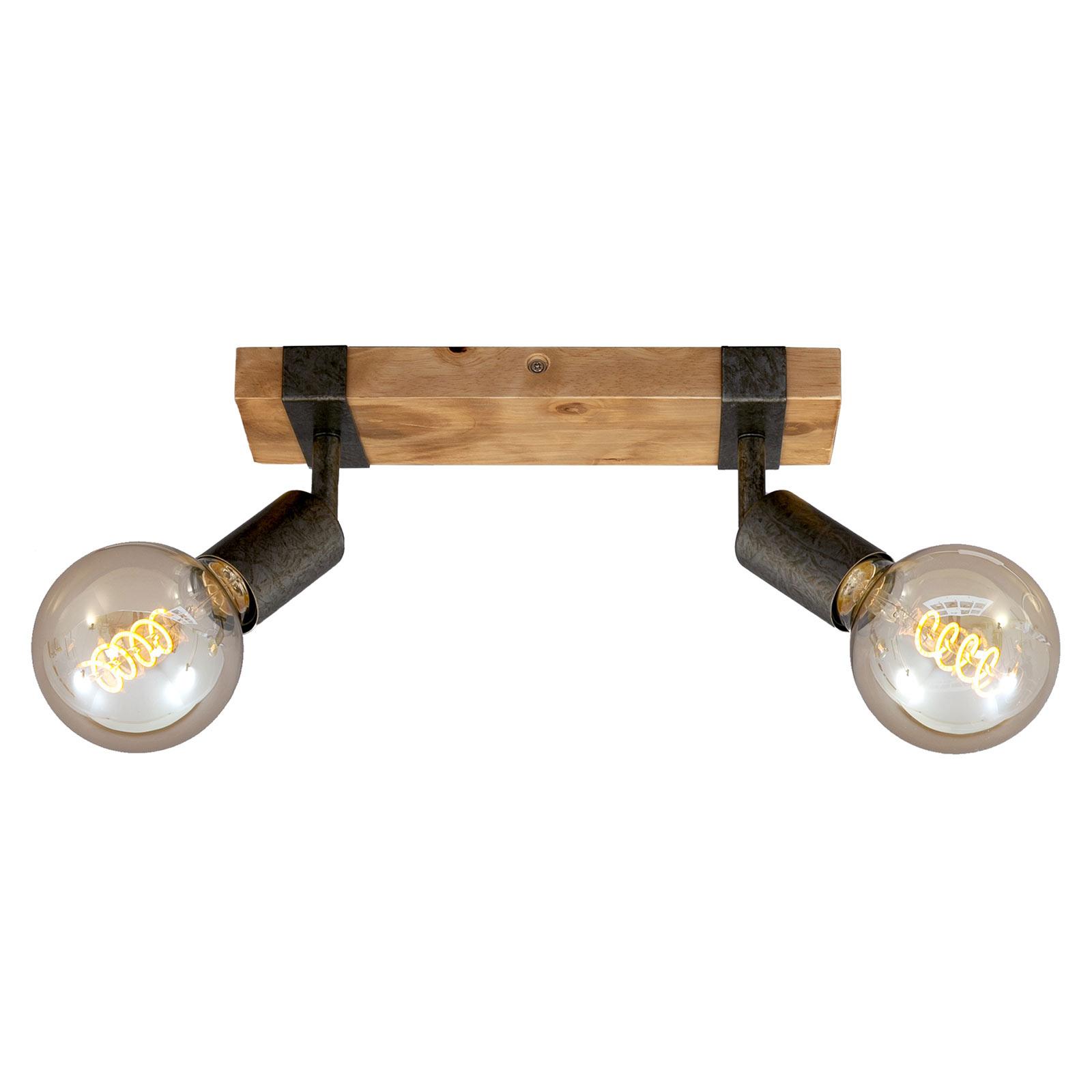 Deckenleuchte Wood Basic, zweiflammig