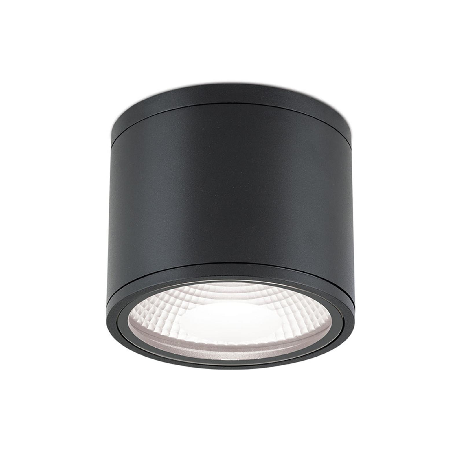LED-kattovalaisin Sputnik IP65 Ø 14,5 cm musta
