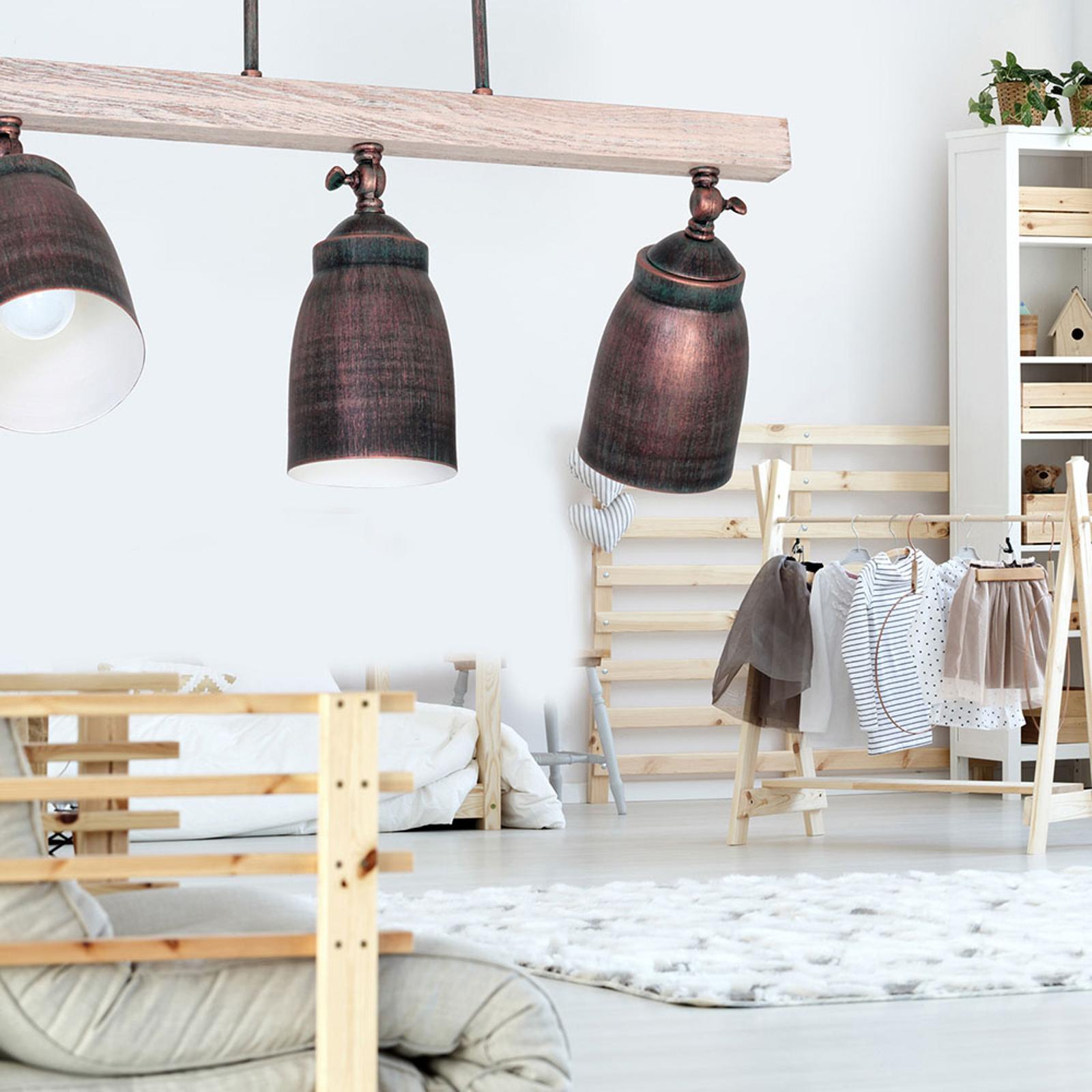 Lampa sufitowa Alejo trzy klosze cylindryczne