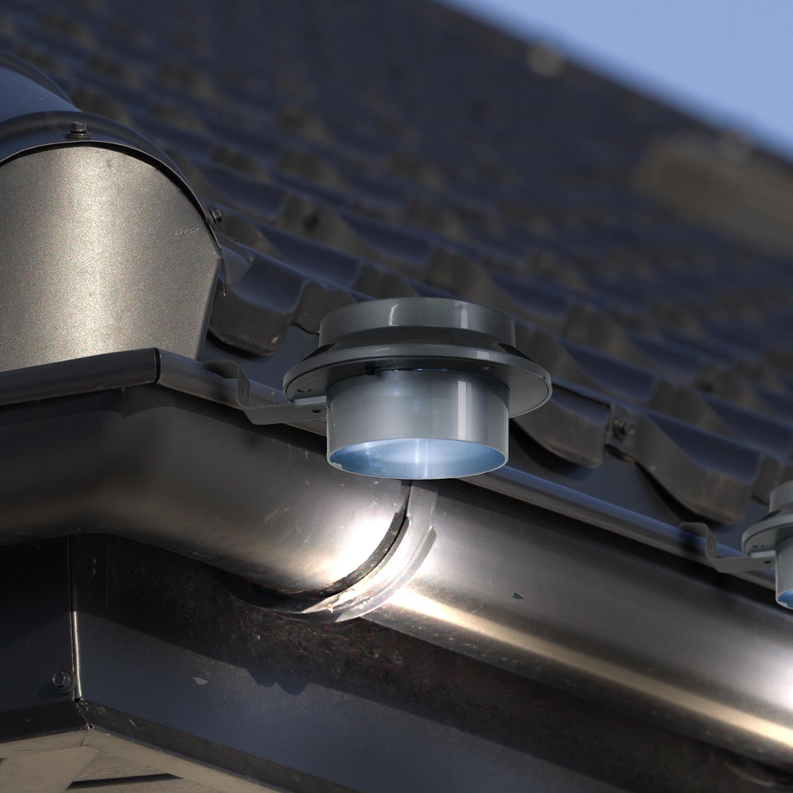 LED-Deko-Solar-Dachrinnenleuchte Mistra 6er-Set