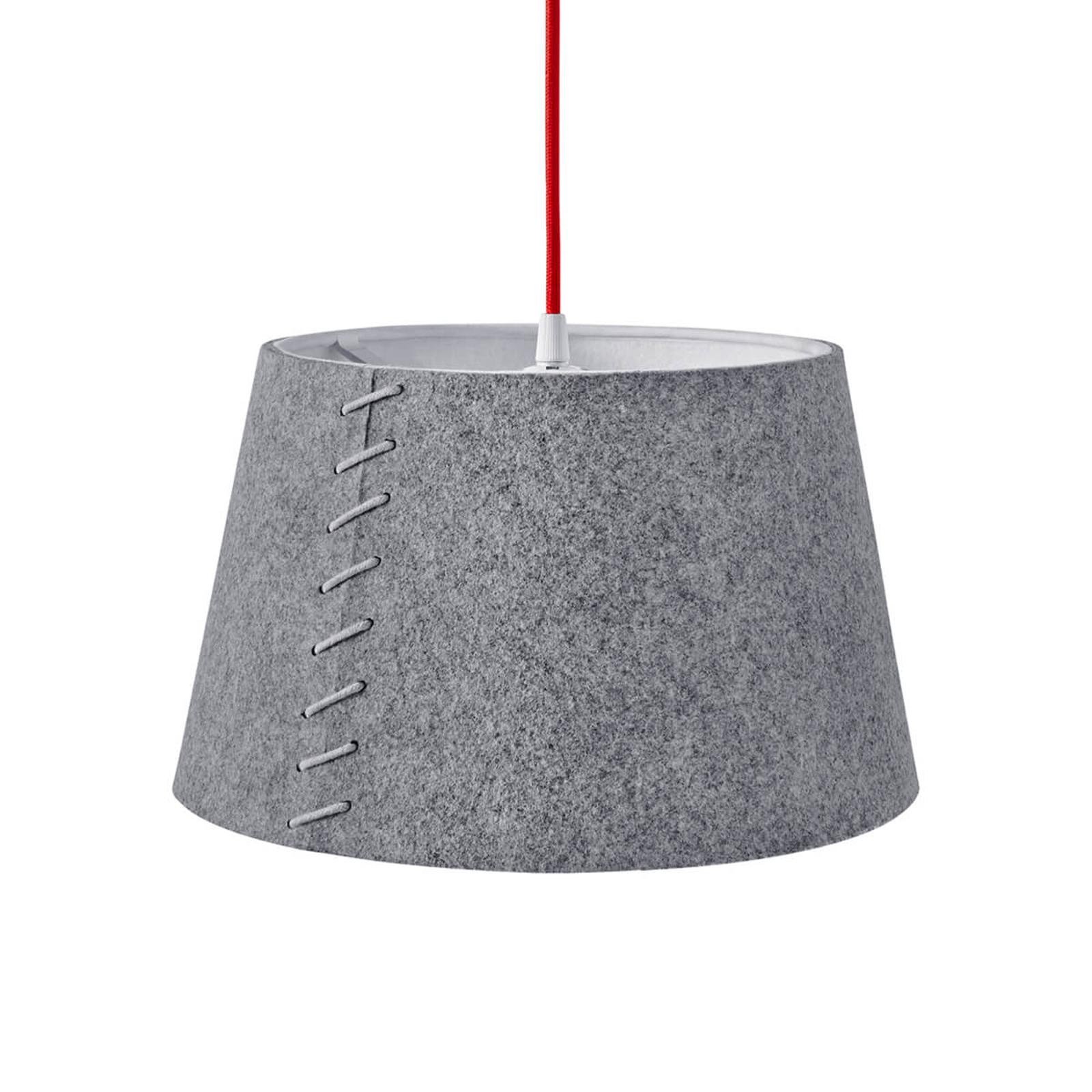 Z szarego filcu - lampa wisząca LED Alice, 30 cm