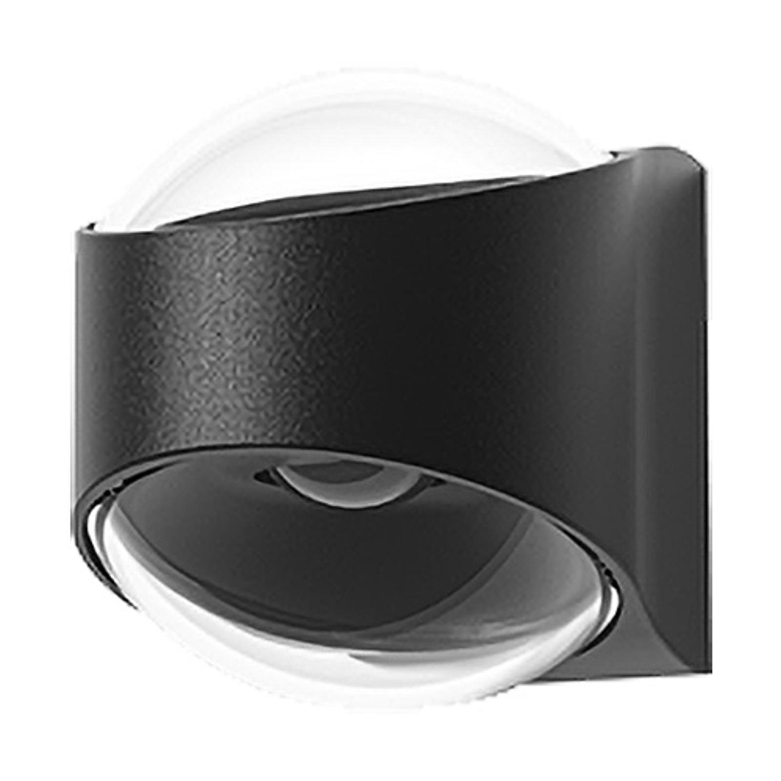 Lucande Almos utendørs LED-vegglampe, buet, 2 lys