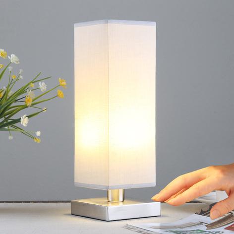 Julina - textil-nattduksbordslampa i grått