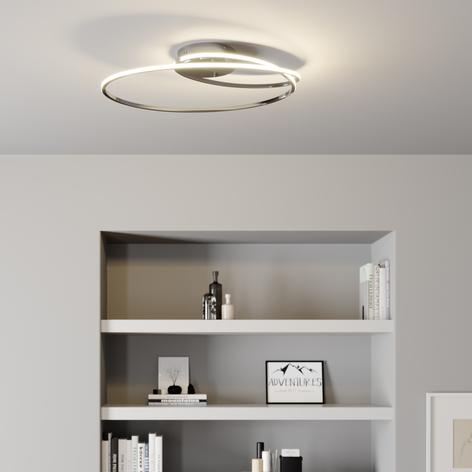 Lindby Xenias plafoniera LED cromo