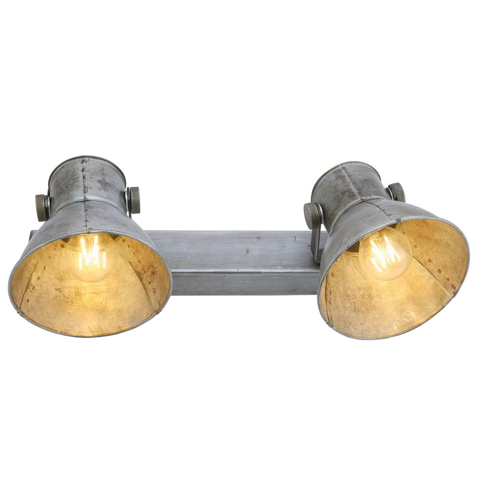 Gabriel - plafonnier à 2 lampes avec spots mobiles