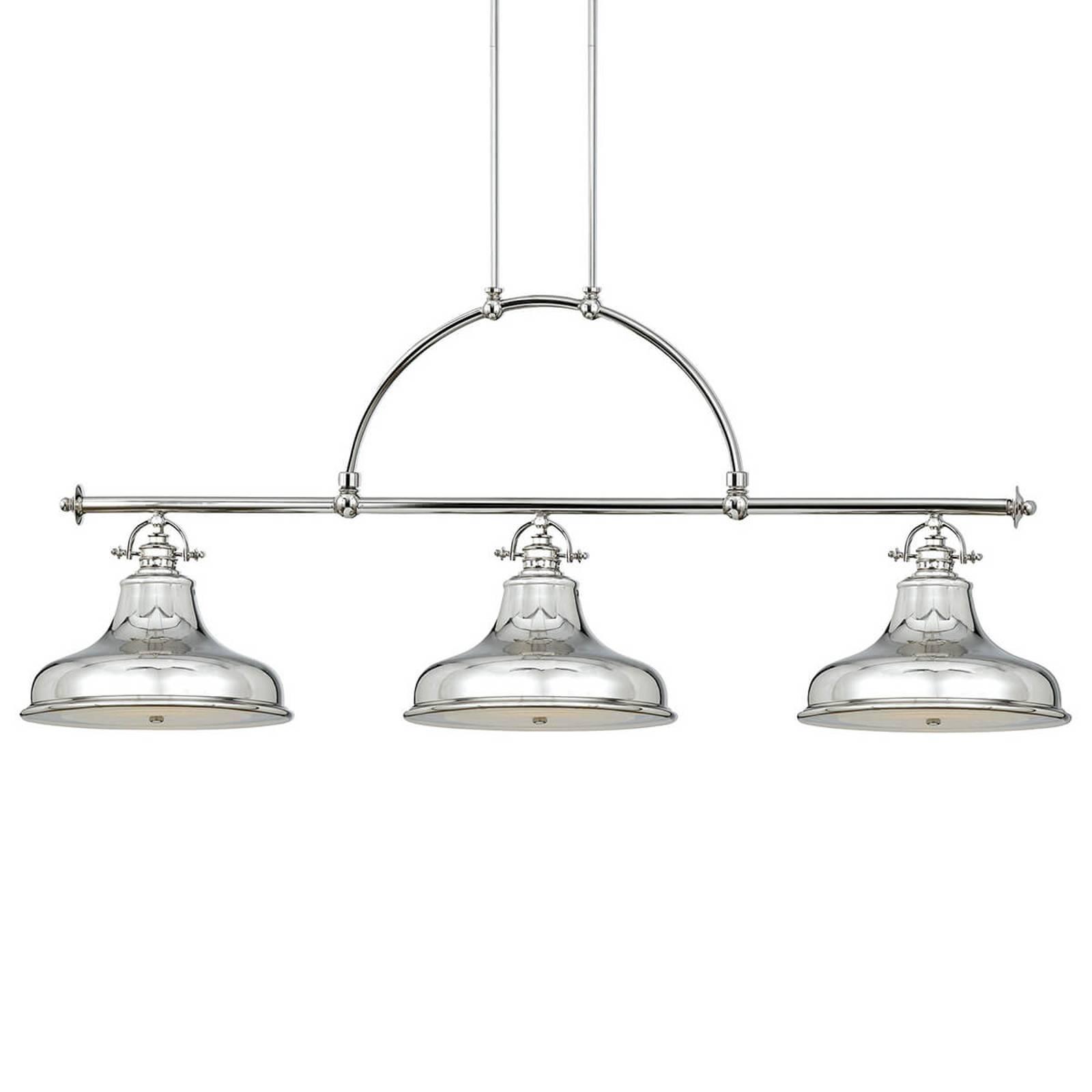 Hanglamp Emery 3-lamps zilver