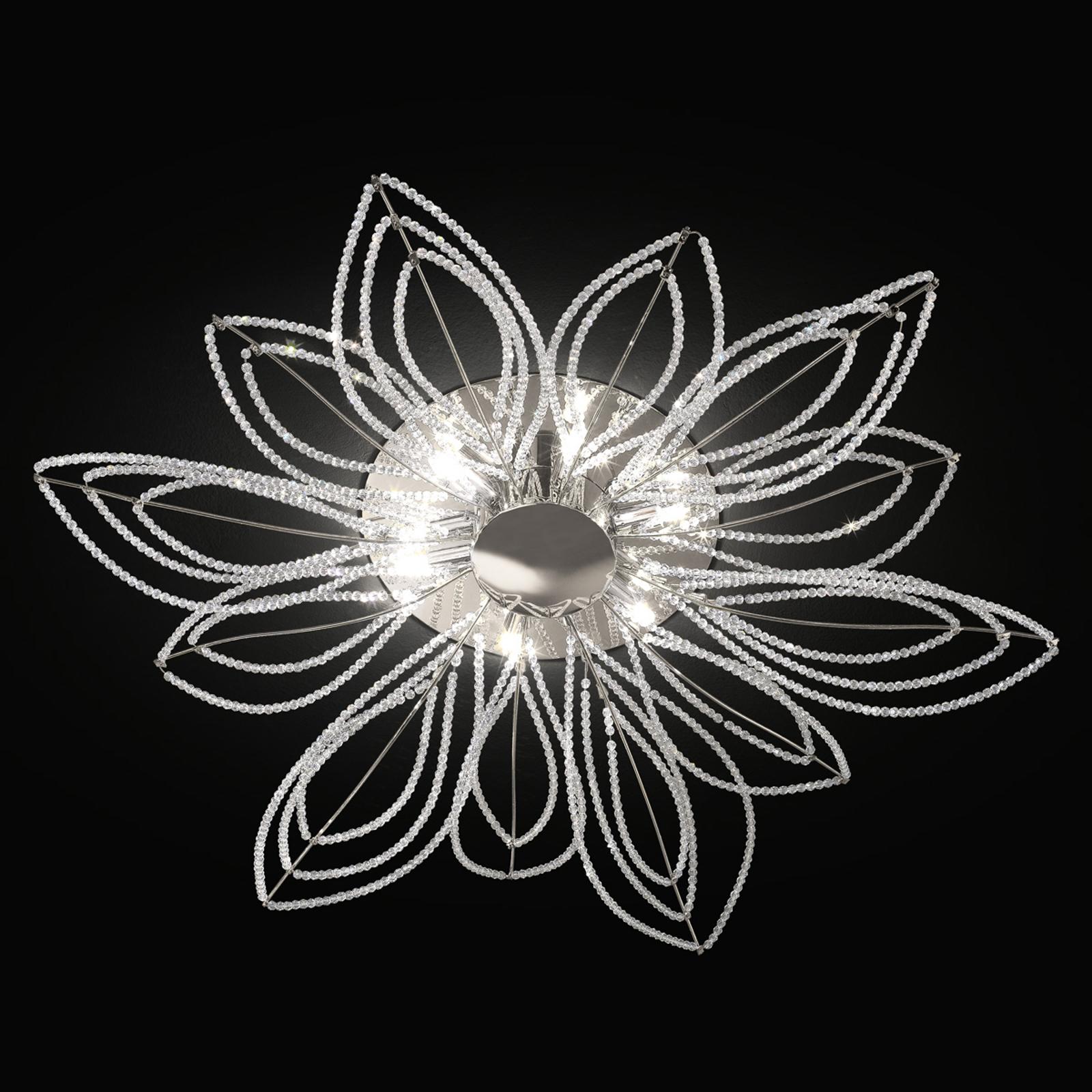 Plafonnier Girasole en forme de fleur, 70cm