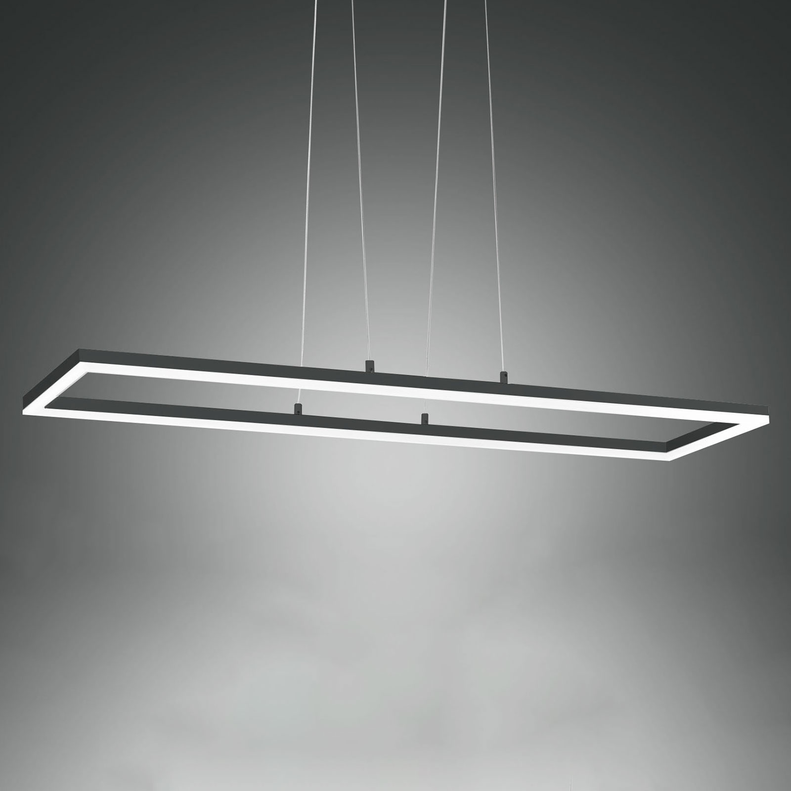 Suspension LED Bard, 92x32cm, anthracite