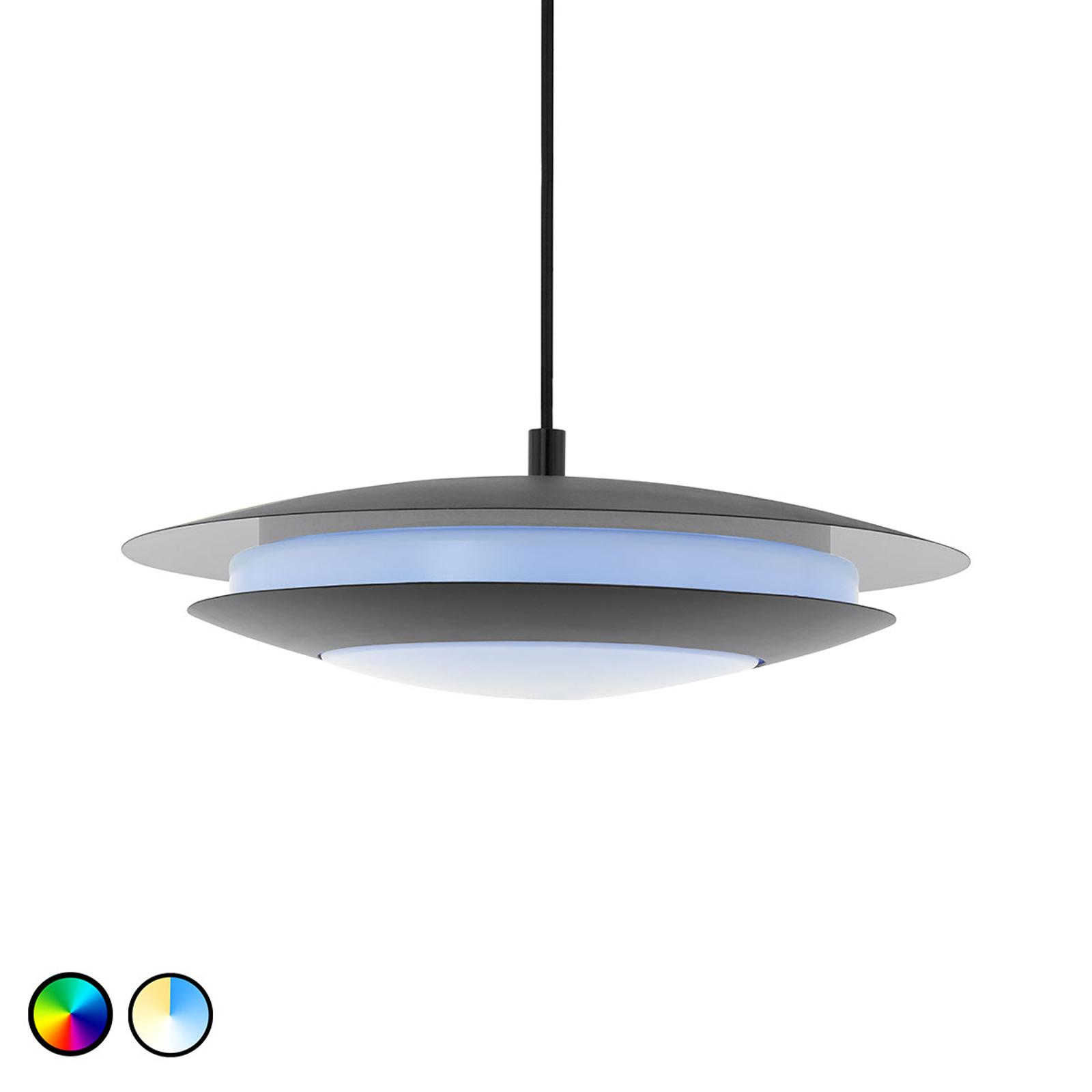 EGLO connect Moneva-C LED-hengelampe svart Ø40,5