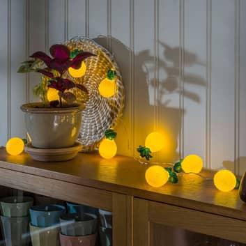 LED-Lichterkette Ananas, batteriebetrieben