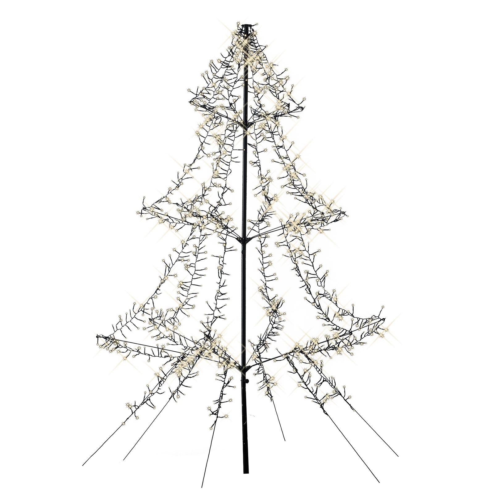 LED-Baum Cluster Erdspieß 3-stufig 1200-flg 200 cm