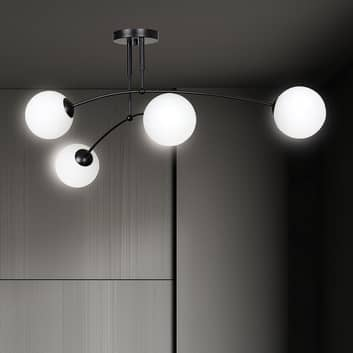 Stropní světlo Pregos 4 v černé barvě čtyři zdroje