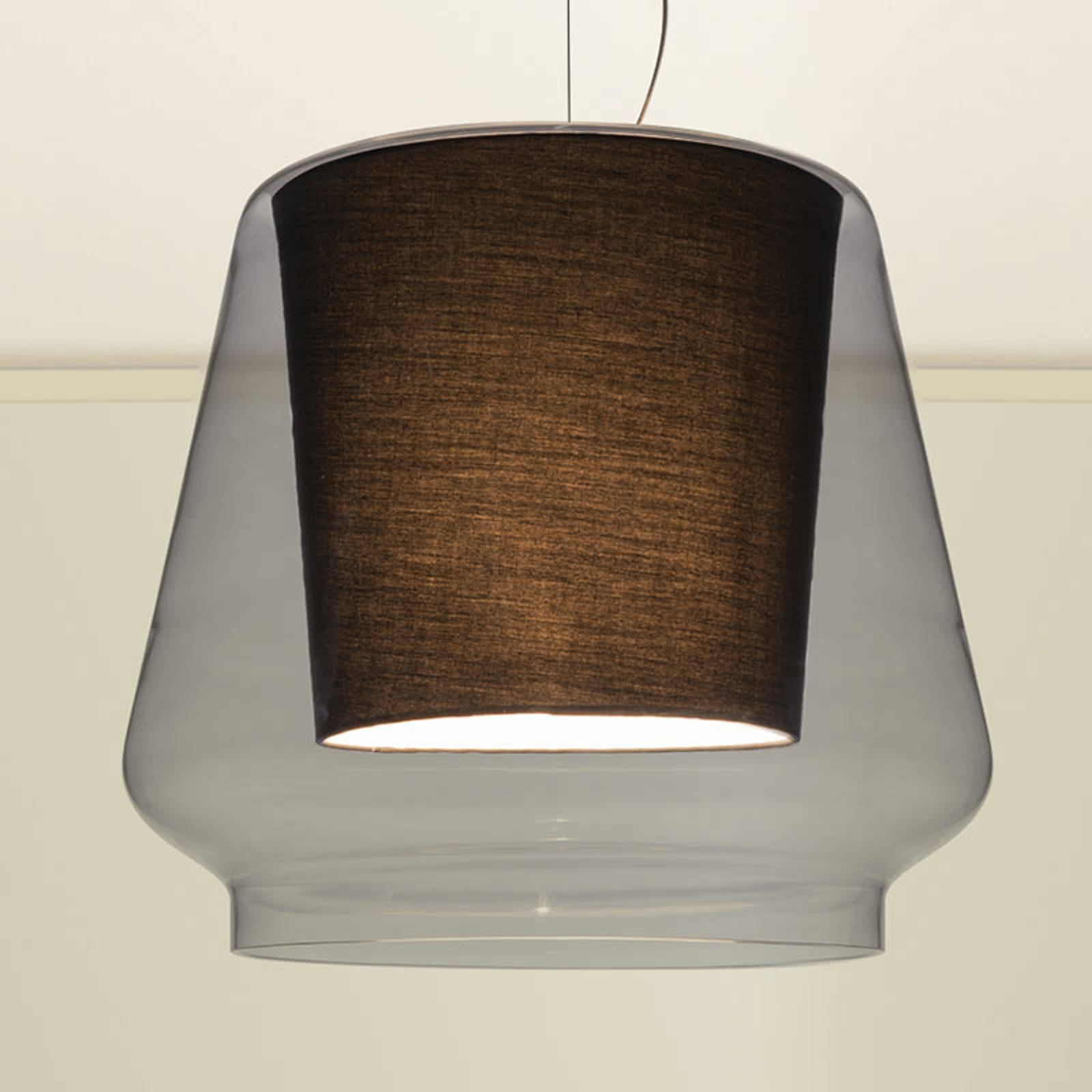 Casablanca Aleve L hanglamp m. rookglas kap
