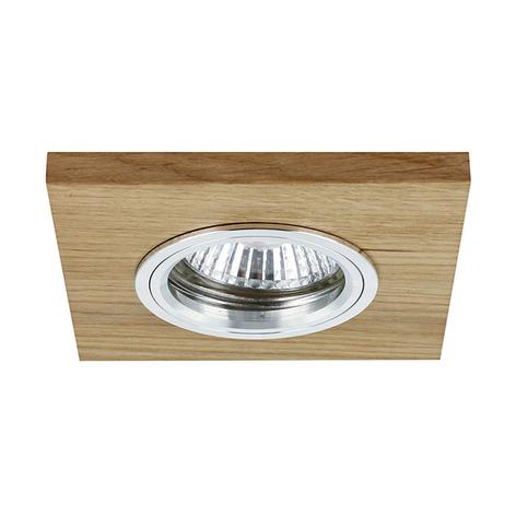 Lámpara de techo LED empotrada Vitar, roble aceite