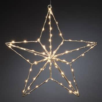 Lámpara decorativa LED Estrella de plata 37x36 cm