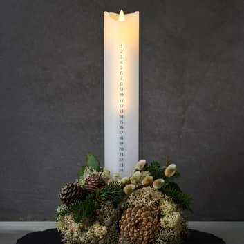 LED svíčka Sára Kalendář Výška 29 cm