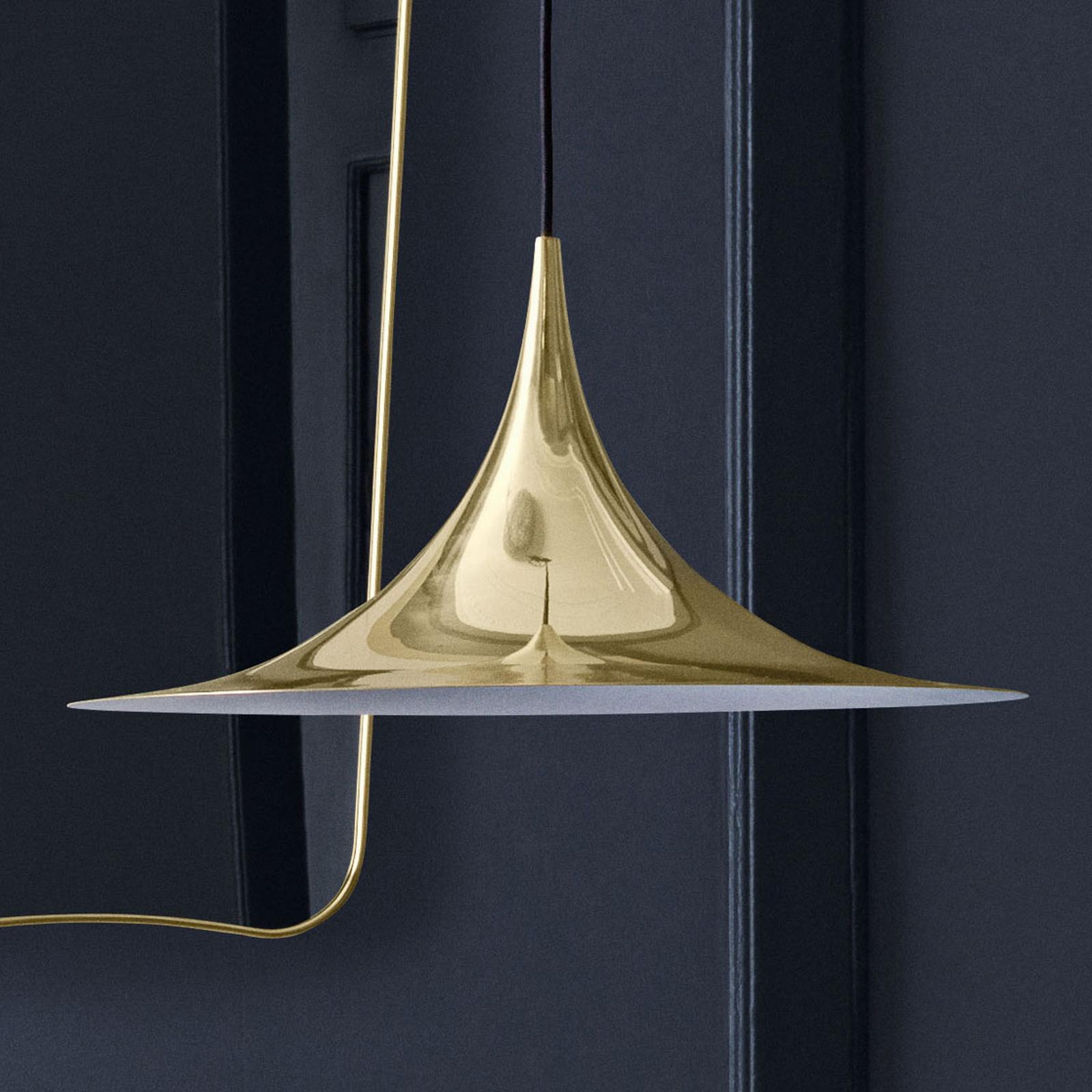 GUBI Semi hængelampe blank messing, Ø 47 cm