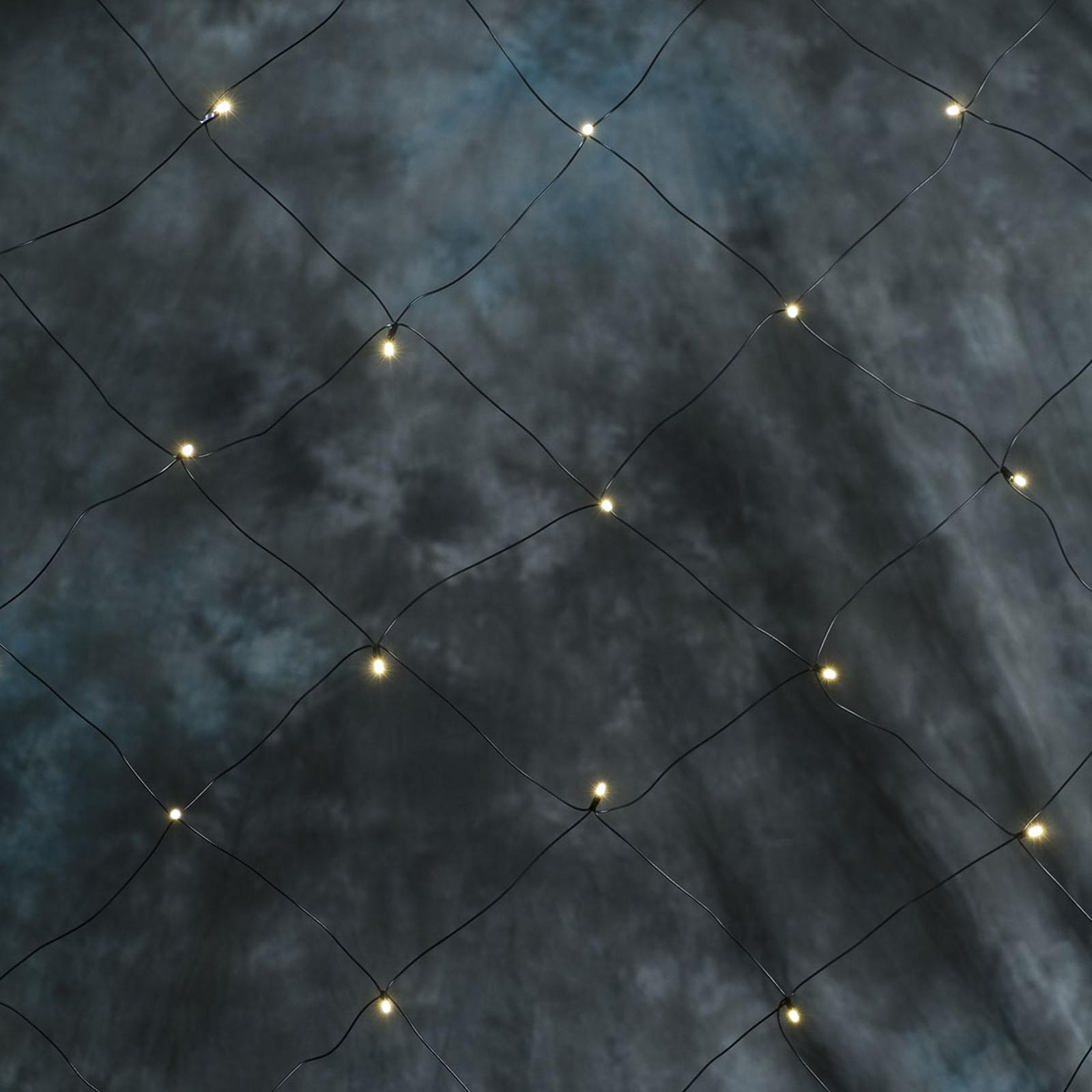 LED-ljusnät 64-armad, varmvit 2m