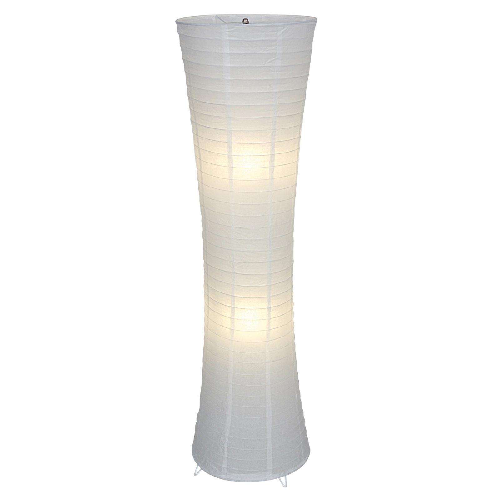 Będąca na czasie lampa stojąca RANPU, biała