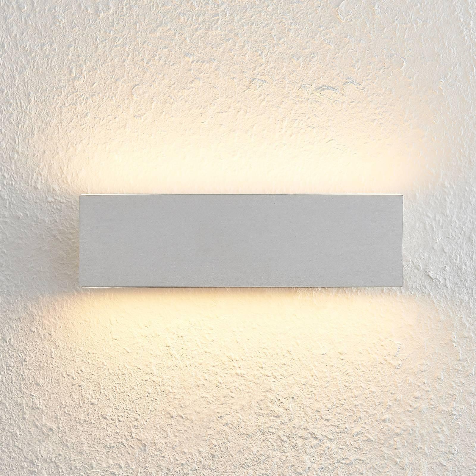 Lindby Ignazia LED wandlamp, 28 cm, wit
