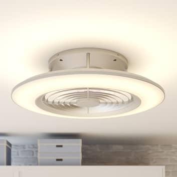 Arcchio Fenio LED-takfläkt med ljus, silver