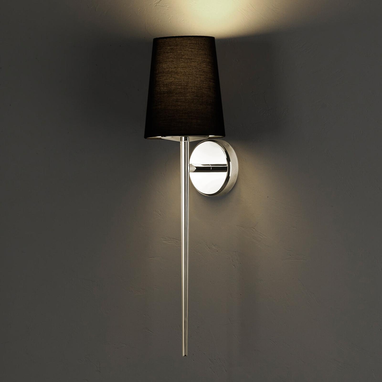 Stijlvol vormgegeven textiel wandlamp Deauville