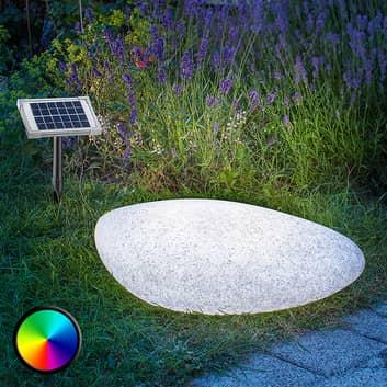 Solcelledrevet lampe Stone 40 med LED til utebruk