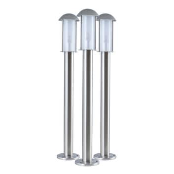Lampioncino LED Coburg di acciaio inox, set 3x