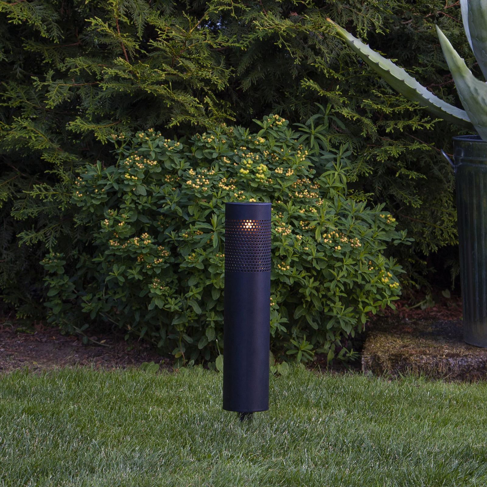 LED-Solarleuchte Blace in Schwarz, 39 cm hoch