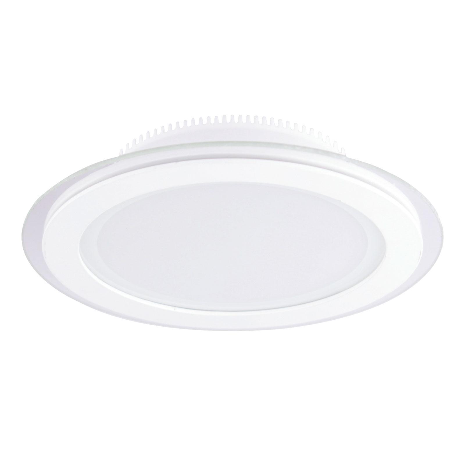 LED-downlight Kuro med IP44 i hvit